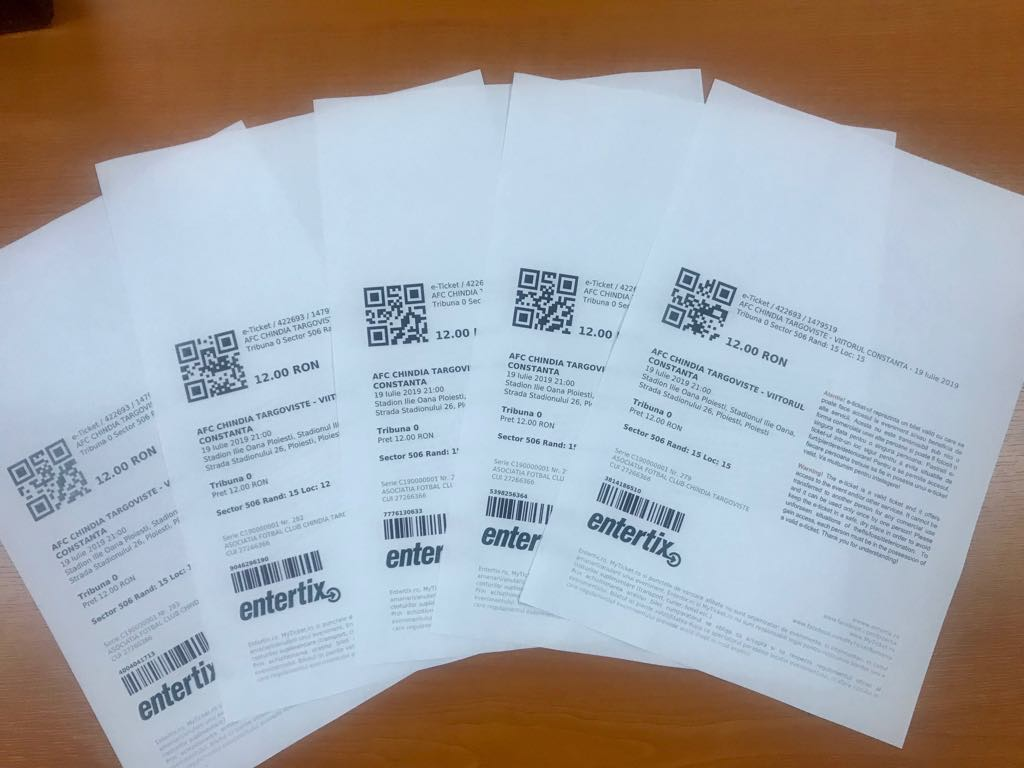 Bilete pentru partida Vhindia Targoviste - CFR Cluj